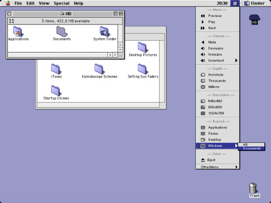 Central Control for Classic Mac OS.