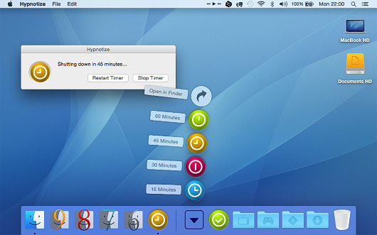 Screenshot of Hypnotize for Mac OS X.