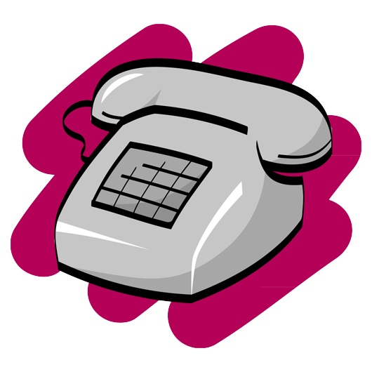 Corded phone clip art.