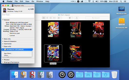 Screenshot of ROMlaunch for Mac OS X.