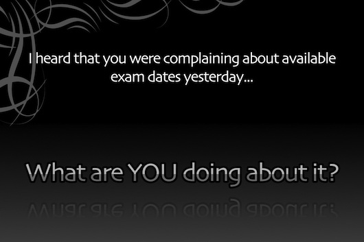 Exam dates teaser.