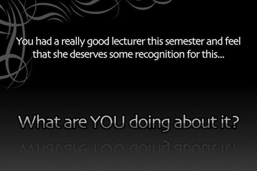 Lecturer teaser.