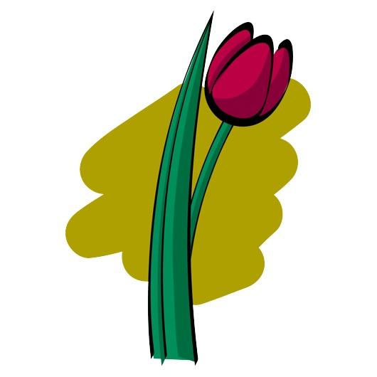 Red tulip clip art.